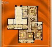 大诚名座3室2厅2卫117平方米户型图