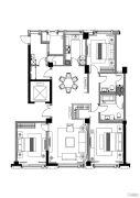 融创外滩1883室2厅2卫0平方米户型图
