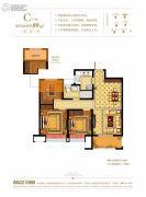 奥克斯缔壹城颐�Z园3室2厅1卫89平方米户型图