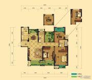 弘阳广场4室2厅2卫135平方米户型图