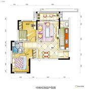碧桂园城市花园2室2厅1卫89平方米户型图