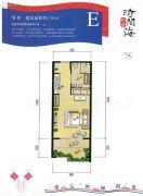 恒泰・时间海1室0厅1卫54平方米户型图
