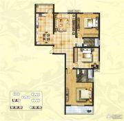 创鑫阳光城3室2厅2卫140平方米户型图