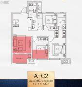 南飞鸿十年城3室2厅2卫0平方米户型图
