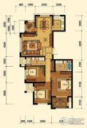 迎恩府3室2厅2卫135平方米户型图
