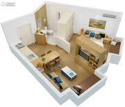 新田城1室1厅1卫45平方米户型图
