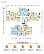 胜利茶博城3室2厅2卫104平方米户型图