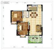 海南近海湾2室1厅1卫83平方米户型图