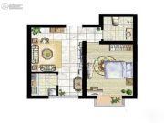 富地・朗城1室1厅1卫0平方米户型图