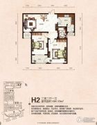 芭东海城2室2厅1卫101平方米户型图