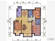 薇乐花园3室2厅2卫131平方米户型图