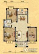 南越・西城华府3室2厅1卫100平方米户型图