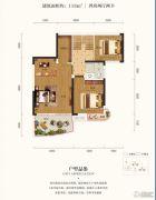 润和山水郡4室2厅1卫118平方米户型图