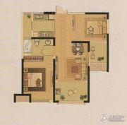 中南・世纪锦城2室2厅1卫85平方米户型图