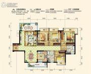 碧桂园松湖珑悦4室2厅2卫124--125平方米户型图