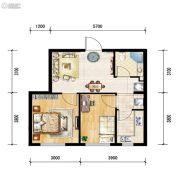 世纪枫景汇2室1厅1卫59平方米户型图