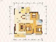 东方盛世豪庭3室2厅2卫0平方米户型图