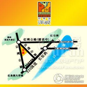 帝景湾洋城交通图