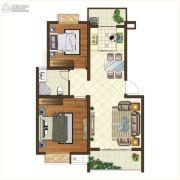 格林悦城2室2厅1卫79平方米户型图