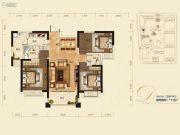 红星国际3室2厅2卫110平方米户型图