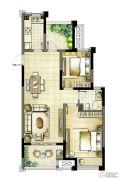 启迪方洲2室2厅1卫89平方米户型图