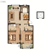 中正公馆2室2厅2卫104--117平方米户型图