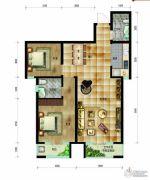帝王国际2室2厅2卫99平方米户型图