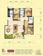 梦幻谷・�|方�A府3室2厅2卫142平方米户型图