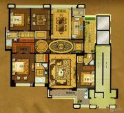 中瓯・金色海岸4室2厅3卫245平方米户型图
