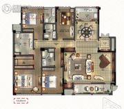 绿城深蓝公寓4室2厅2卫213平方米户型图