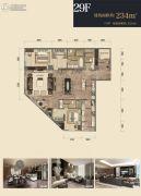 杭州印2室2厅3卫234平方米户型图