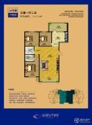 涧桥西畔3室1厅2卫114平方米户型图