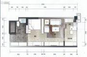 南浦时代1室1厅1卫43平方米户型图