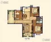 置地・天中第一城 北苑3室2厅1卫0平方米户型图