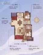 碧桂园梅公馆3室2厅2卫108平方米户型图