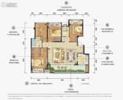 万科金域华府4室2厅2卫0平方米户型图