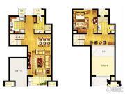 万科MixTown2室1厅2卫97平方米户型图