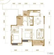 香江华府2室2厅2卫116平方米户型图
