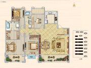 汉中新城吾悦广场4室2厅2卫208平方米户型图