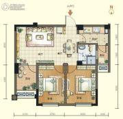 航宇・香格里拉2室2厅1卫68平方米户型图