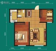 九鼎翼龙华庭2室2厅1卫84平方米户型图