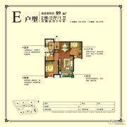 旭辉・时代城2室2厅1卫89平方米户型图