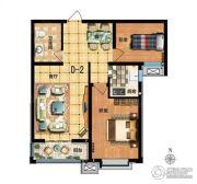 满城惠友・万悦城2室2厅2卫0平方米户型图