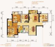 中海国际社区4室2厅2卫95平方米户型图