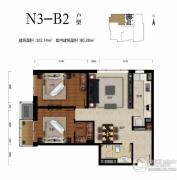 华远九都汇2室2厅1卫102平方米户型图