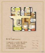 城东一号4室2厅2卫140平方米户型图