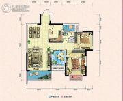 凯富南方鑫城2室2厅1卫92平方米户型图