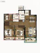 绿都・汀�m府3室2厅1卫0平方米户型图