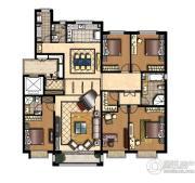 中信府4室2厅3卫228平方米户型图