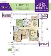 帕佳图・尚品3室2厅2卫85平方米户型图